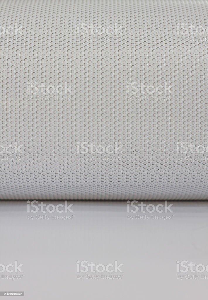plastic net white background stock photo