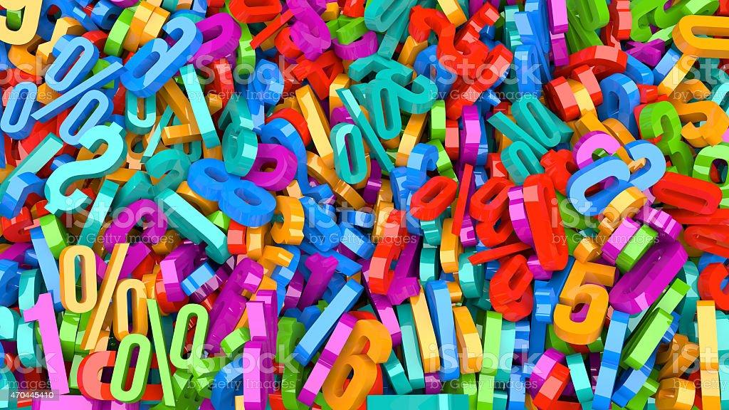 Plastic Numbers stock photo