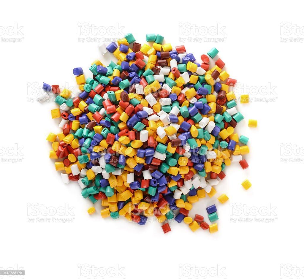 Plastic pellets stock photo