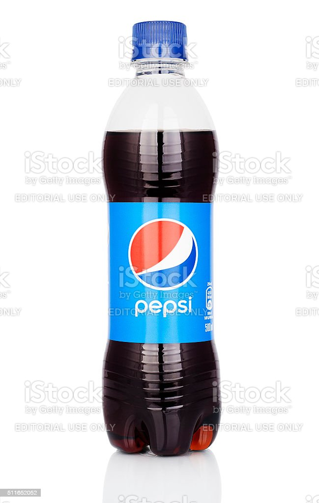 Plastic Pepsi Bottle stock photo