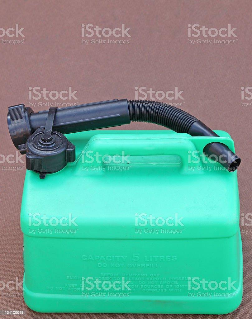 plastic petrol can stock photo