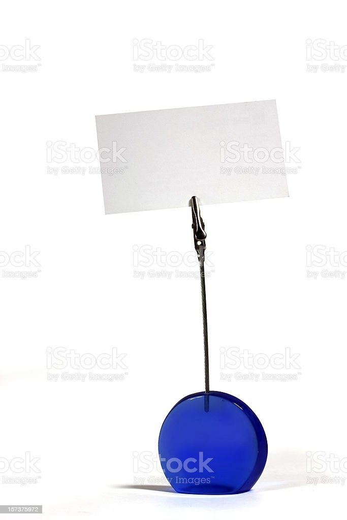 Plastic Photo Holder with Blank Business Card stock photo