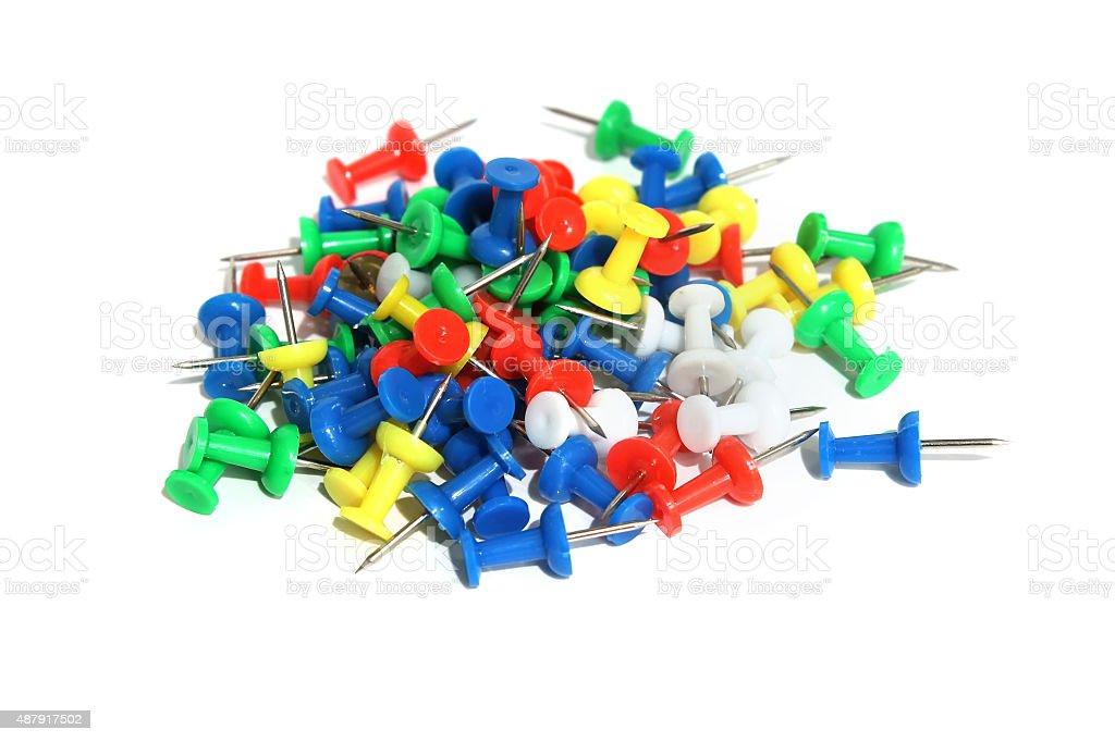 Plastic pin stock photo