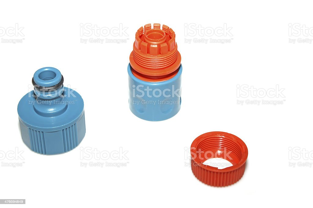 plastic pipe fittings royalty-free stock photo