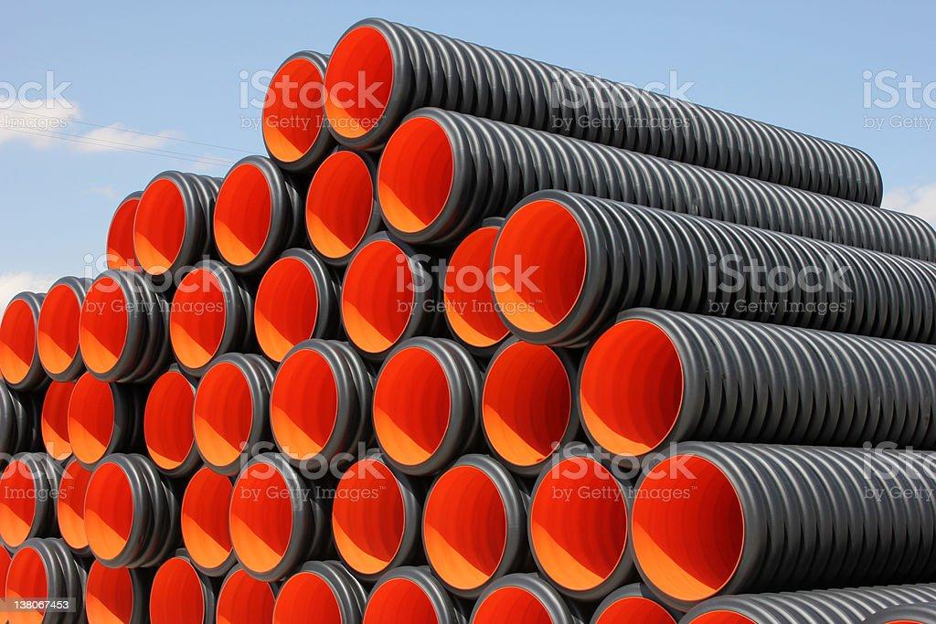 Plastic Pipe stock photo