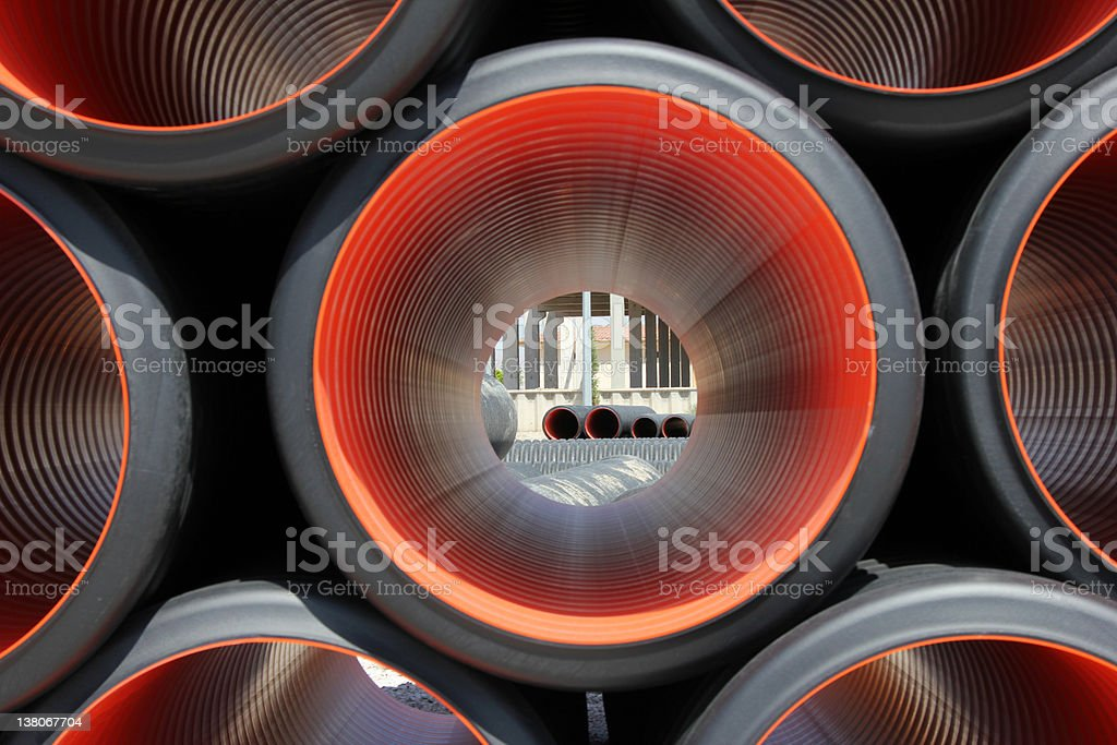 Plastic Pipe royalty-free stock photo