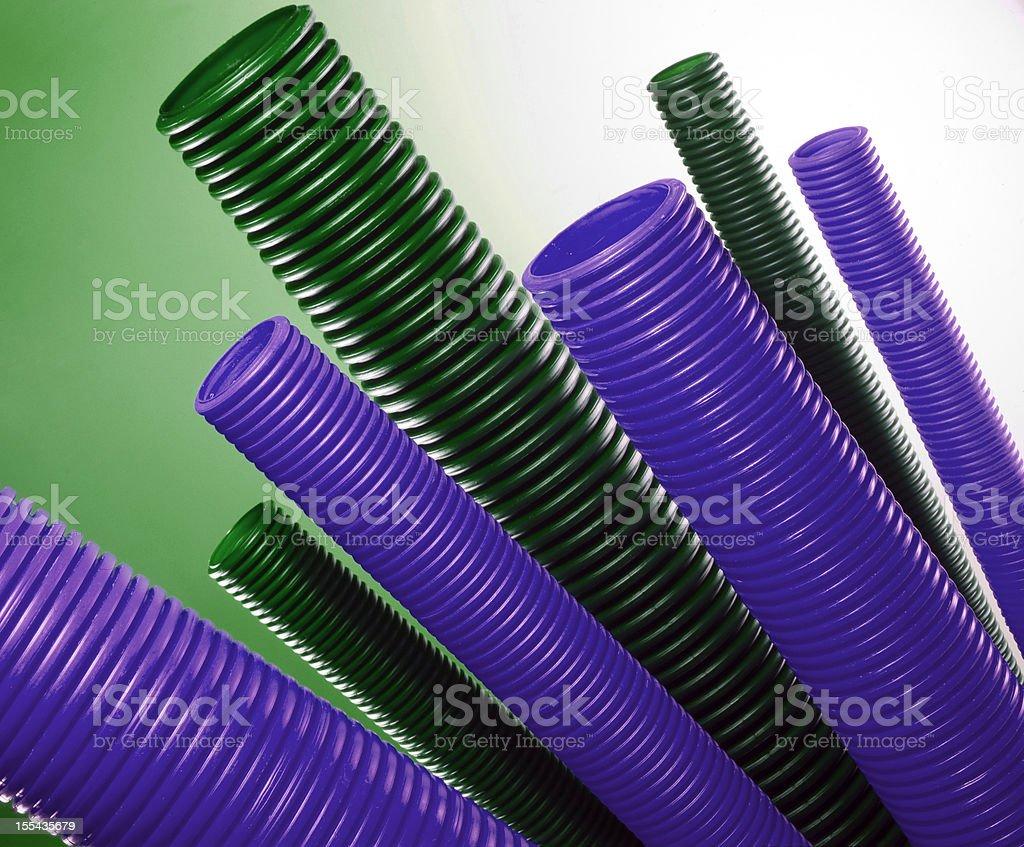 plastic pipes stock photo