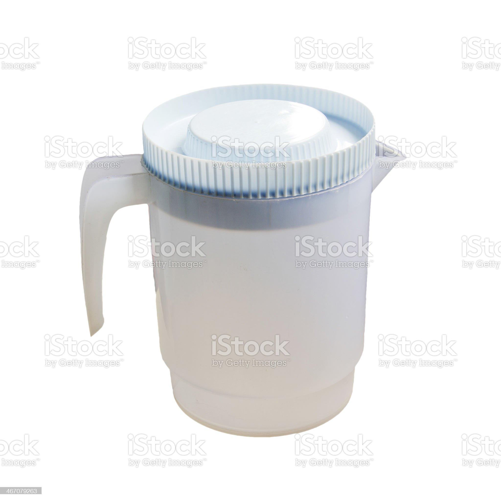 Plastic pitcher. royalty-free stock photo
