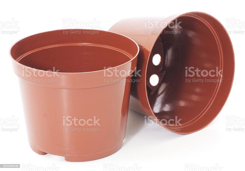 Recipientes de plástico de planta foto de stock libre de derechos
