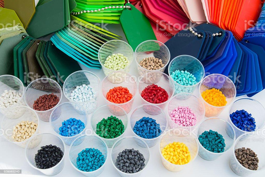 plastic polymer granulate stock photo