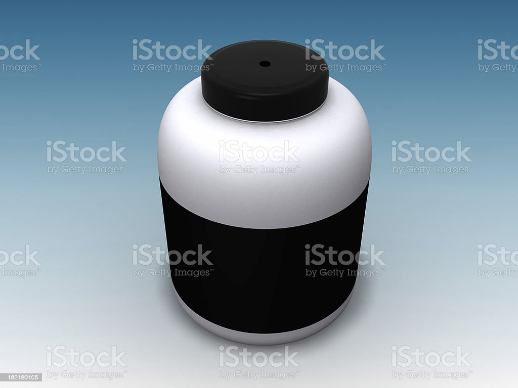Plastic pot royalty-free stock photo
