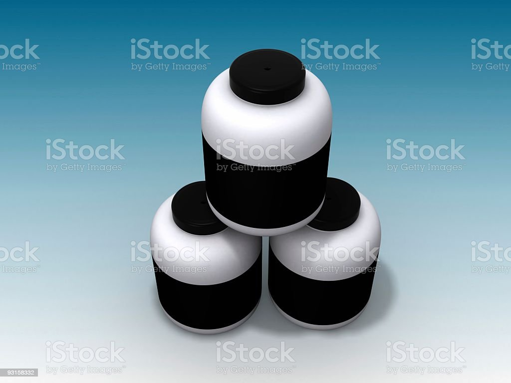Plastic pots royalty-free stock photo