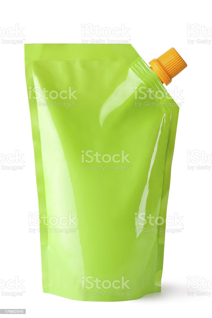Plastic pouch with batcher royalty-free stock photo