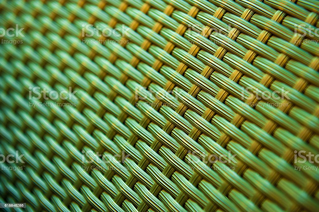 Plastic rattan weave pattern stock photo