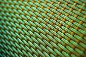 Plastic rattan weave pattern