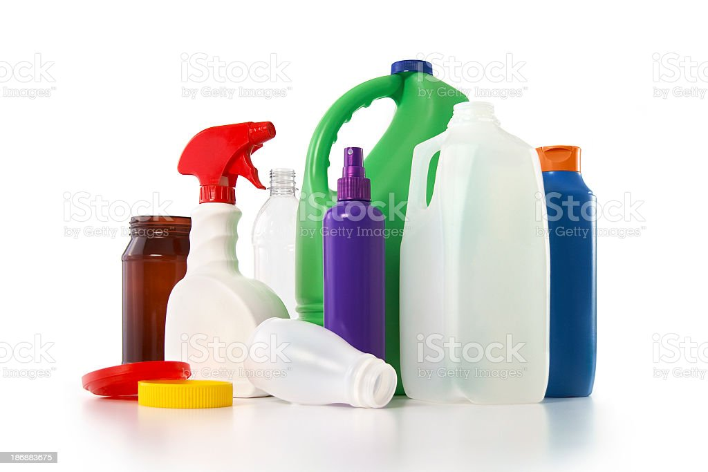Plastic Recyclables stock photo
