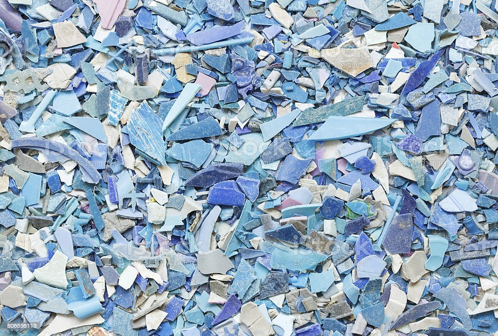 Plastic resin pellets background stock photo