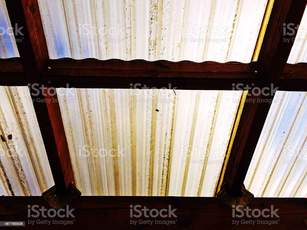 Plastic roof on a sunny day royalty-free stock photo