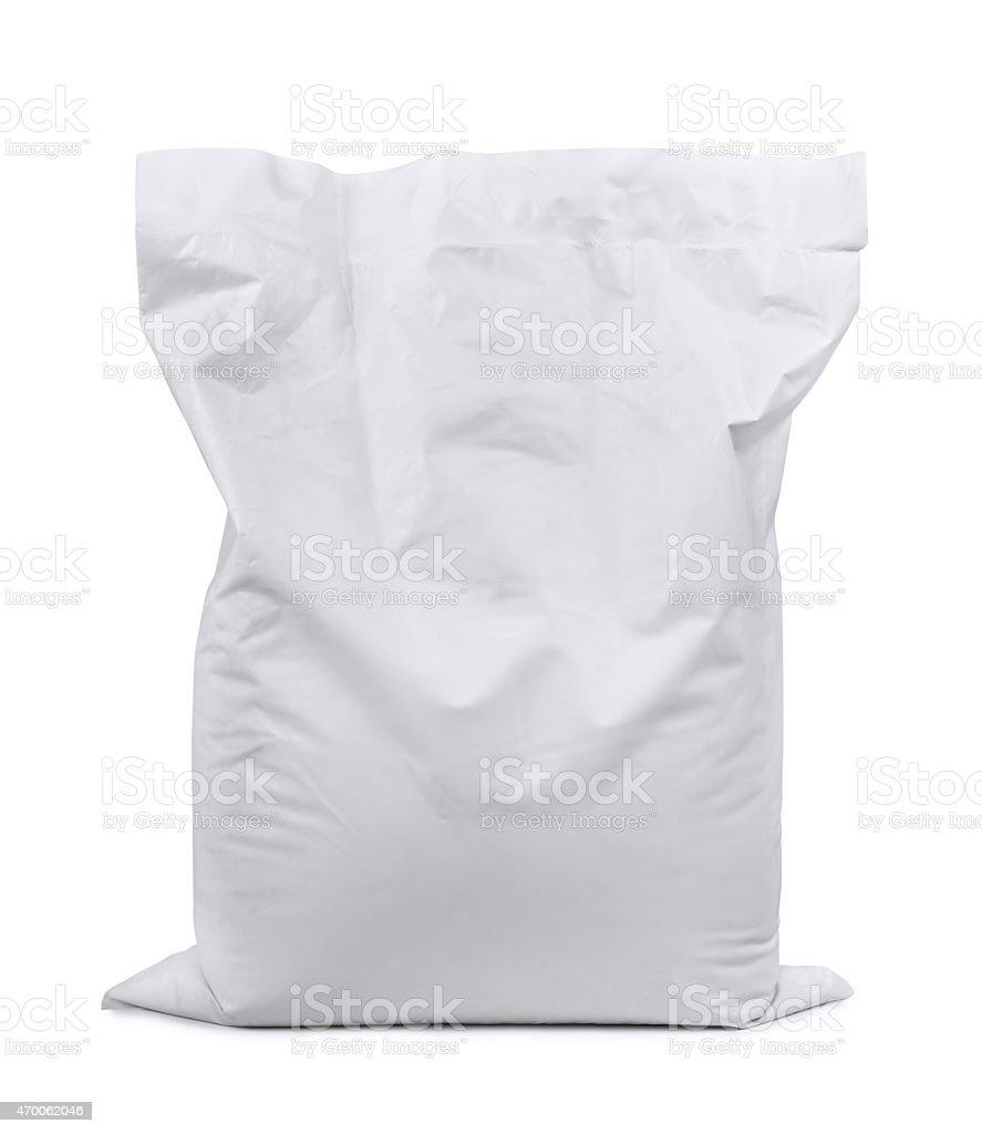 Plastic sack stock photo