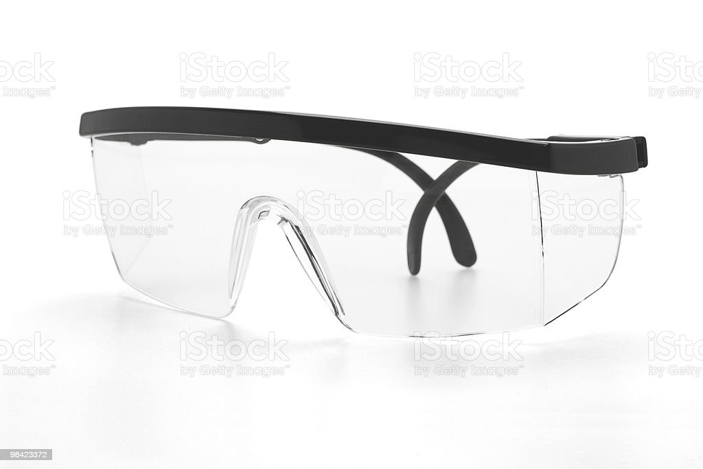 Plastic safety goggles royalty-free stock photo