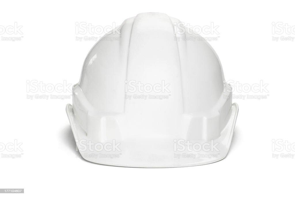 Plastic safety helmet stock photo
