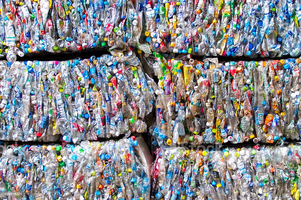 Plastic scrap stock photo