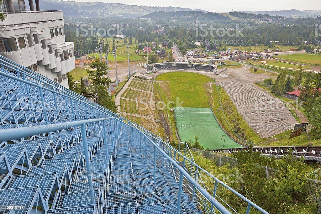 Plastic Ski Jump in Zakopane Poland stock photo