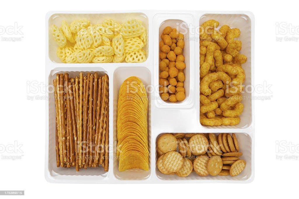 Plastic Snack Box stock photo