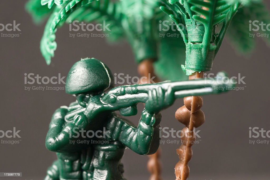 Plastic Soldier royalty-free stock photo