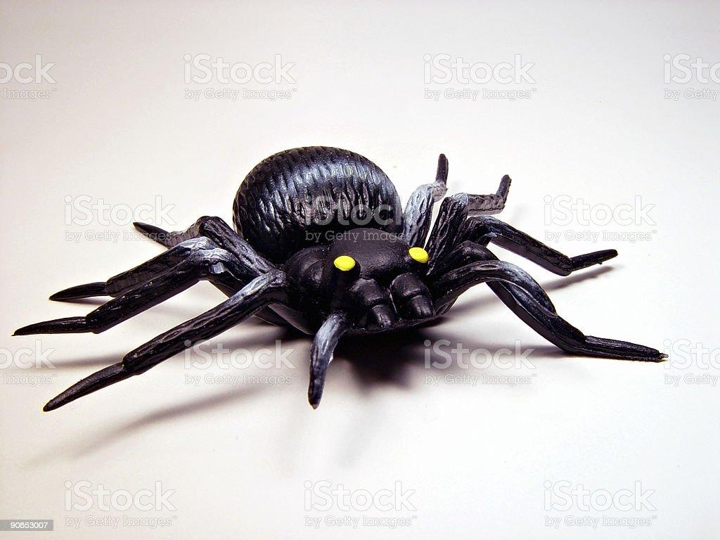 Plastic Spider stock photo