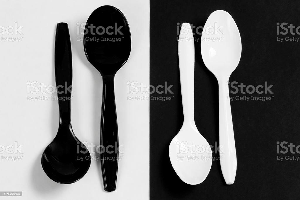 Plastic Spoons royalty-free stock photo