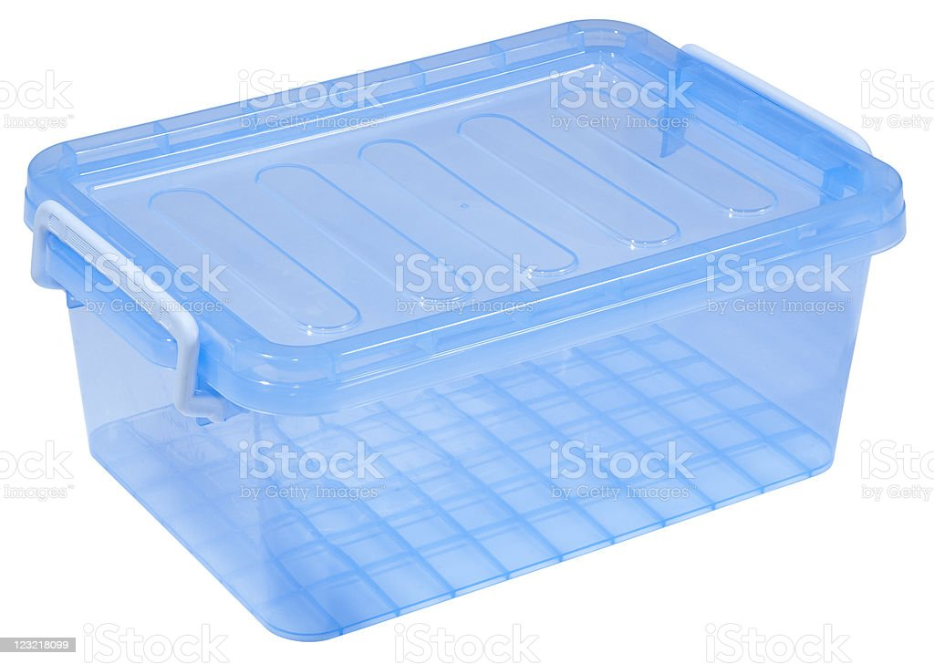 plastic storage box stock photo