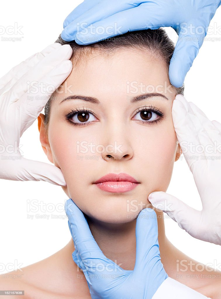 Plastic surgeons and beauty face royalty-free stock photo