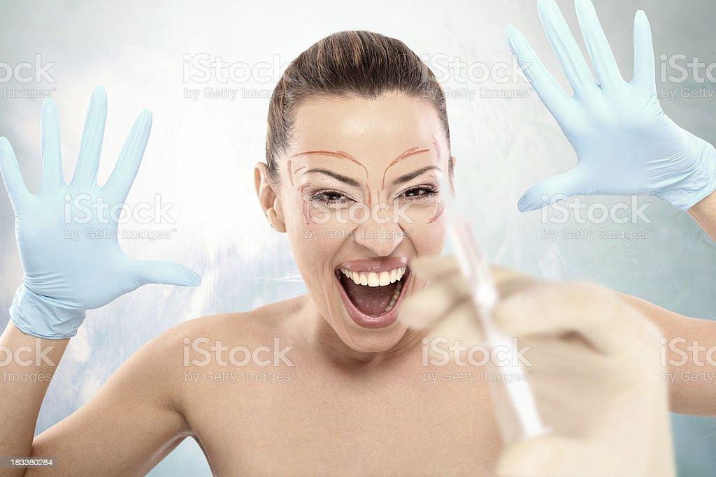 Plastic surgery concept. stock photo