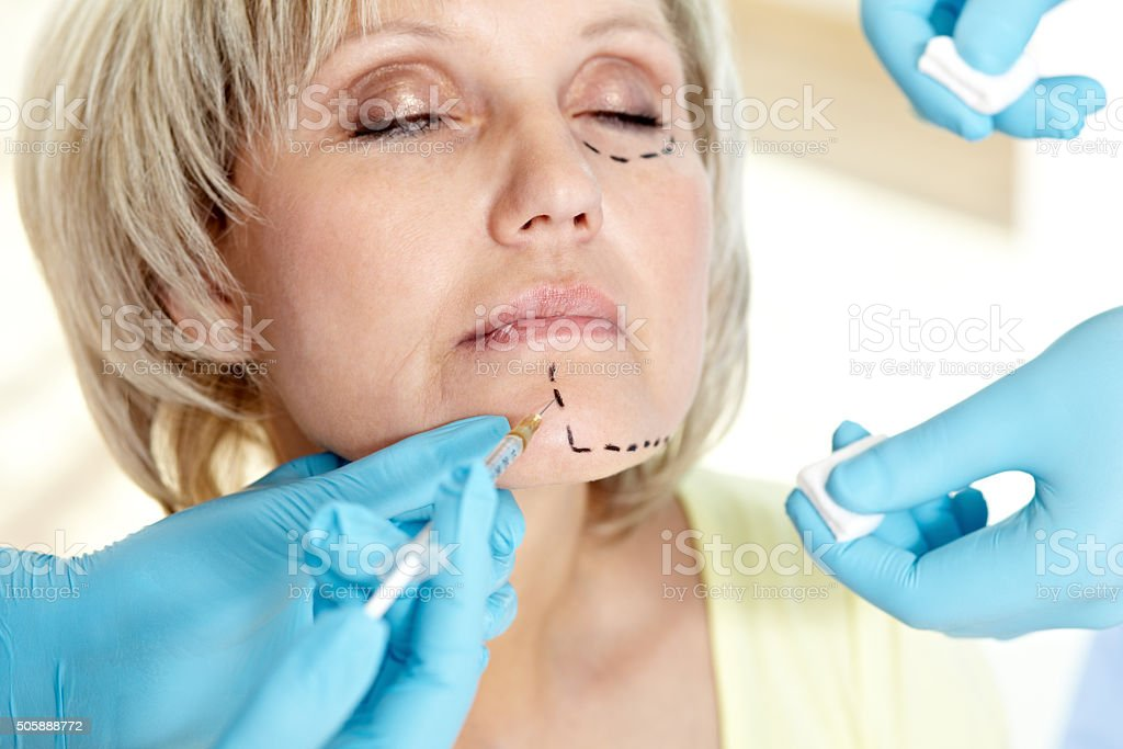 Plastic surgery stock photo