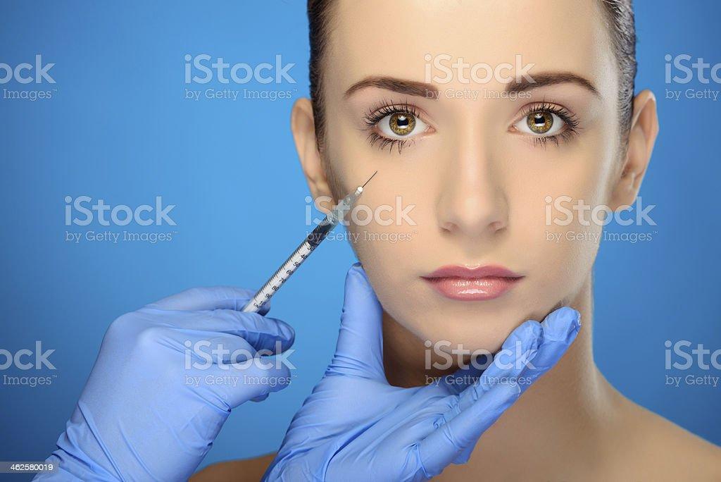 plastic surgery portrait stock photo