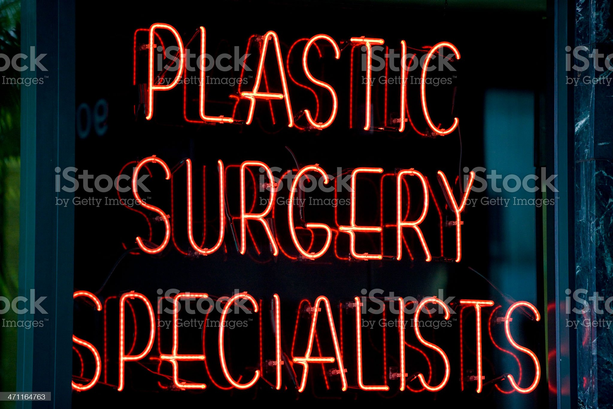 Plastic surgery specialists sign royalty-free stock photo