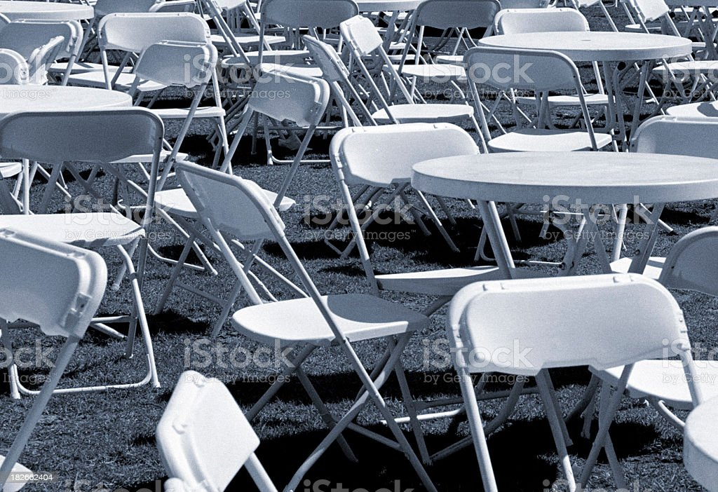 Plastic Tables & Chairs stock photo