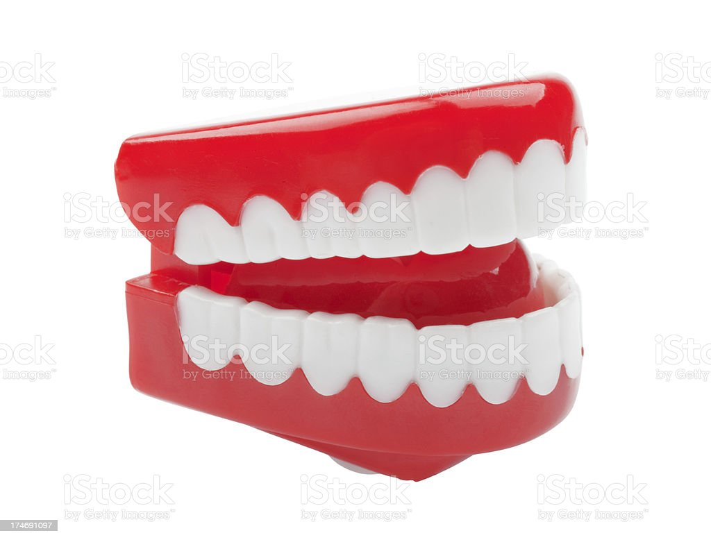 plastic teeth toy (XXL) royalty-free stock photo