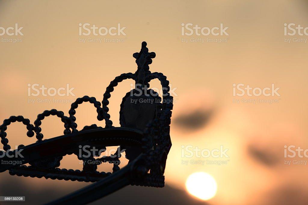 plastic tiara Silhouette stock photo
