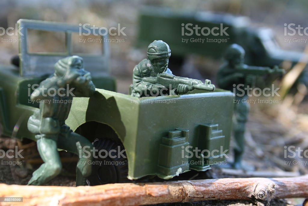 Plastic Toy Army Men royalty-free stock photo