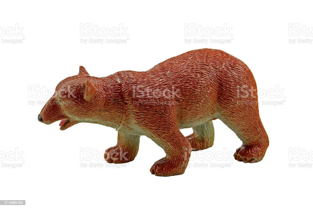 Plastic toy Bear stock photo