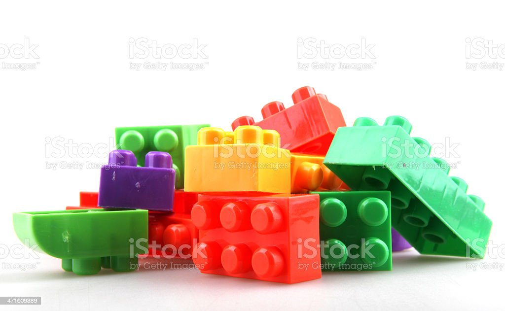 Plastic toy blocks royalty-free stock photo