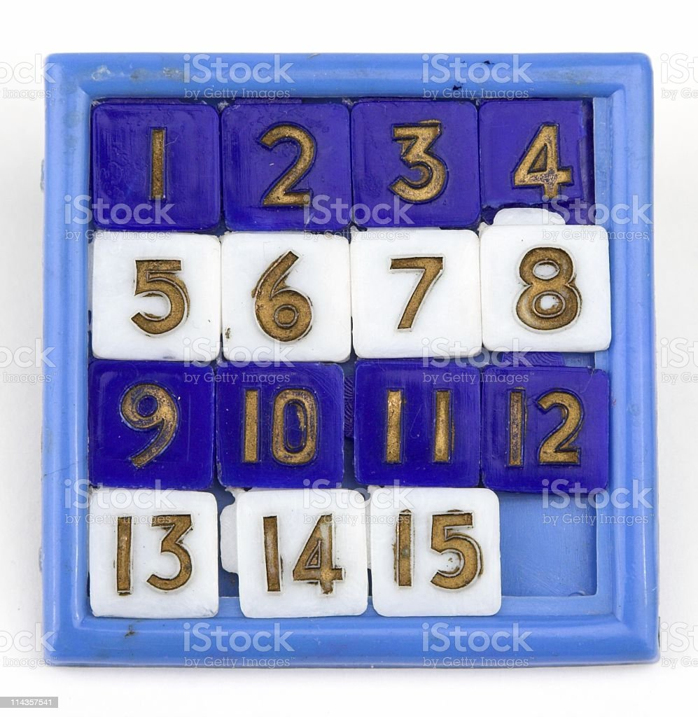 Plastic Toy Puzzle With Numbers In Order royalty-free stock photo