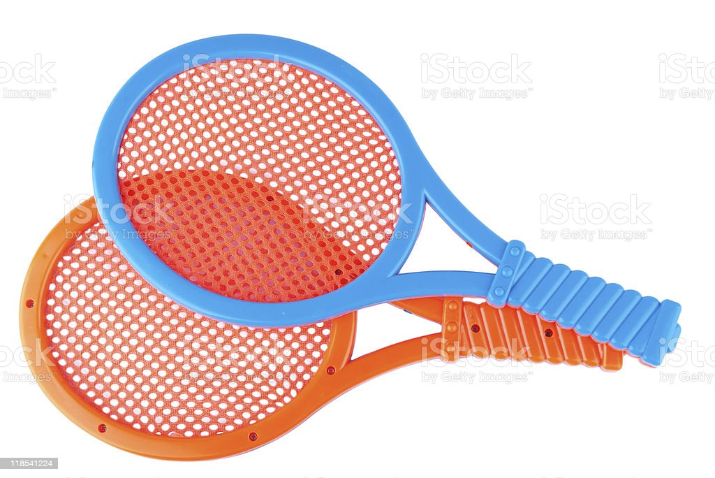 plastic toy rackets royalty-free stock photo