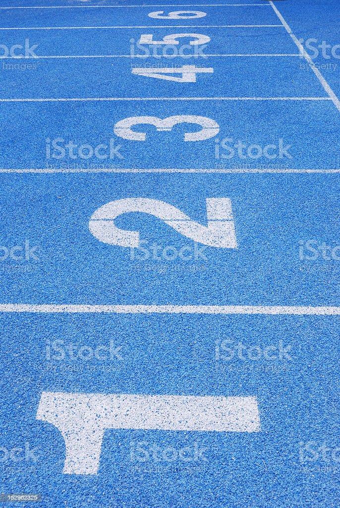 Plastic track stock photo