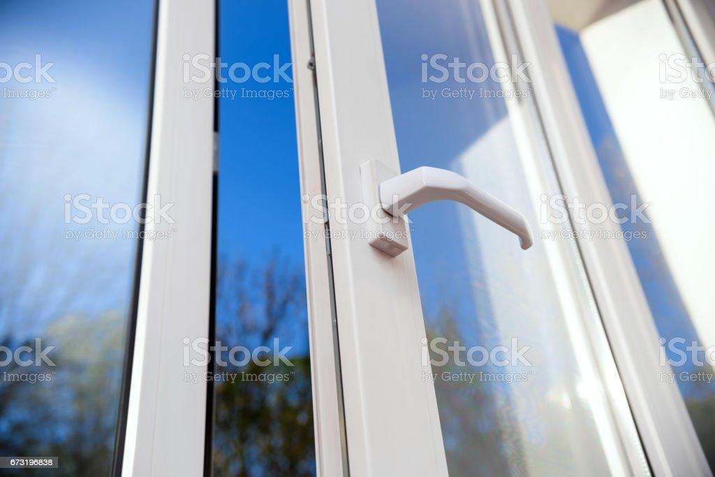 plastic vinyl window stock photo