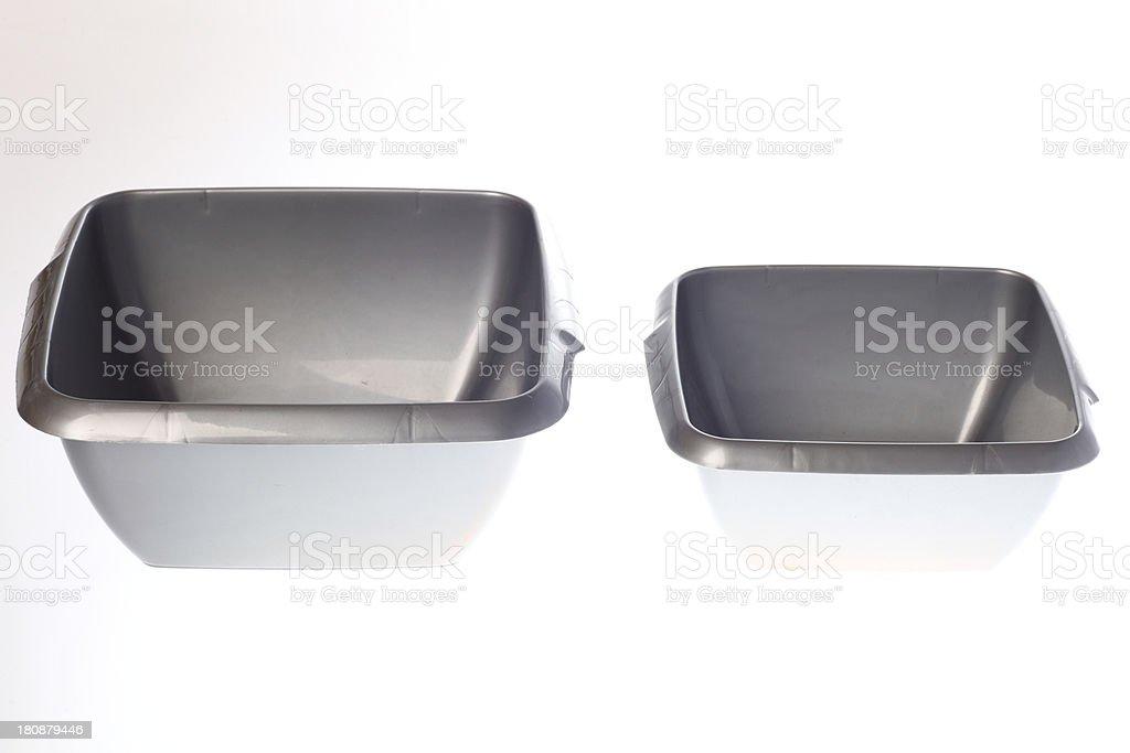 plastic wash basin isolated on white royalty-free stock photo