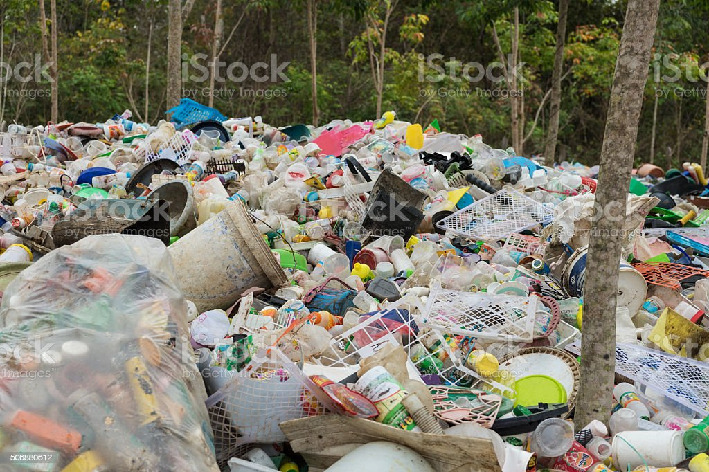 Plastic Waste stock photo