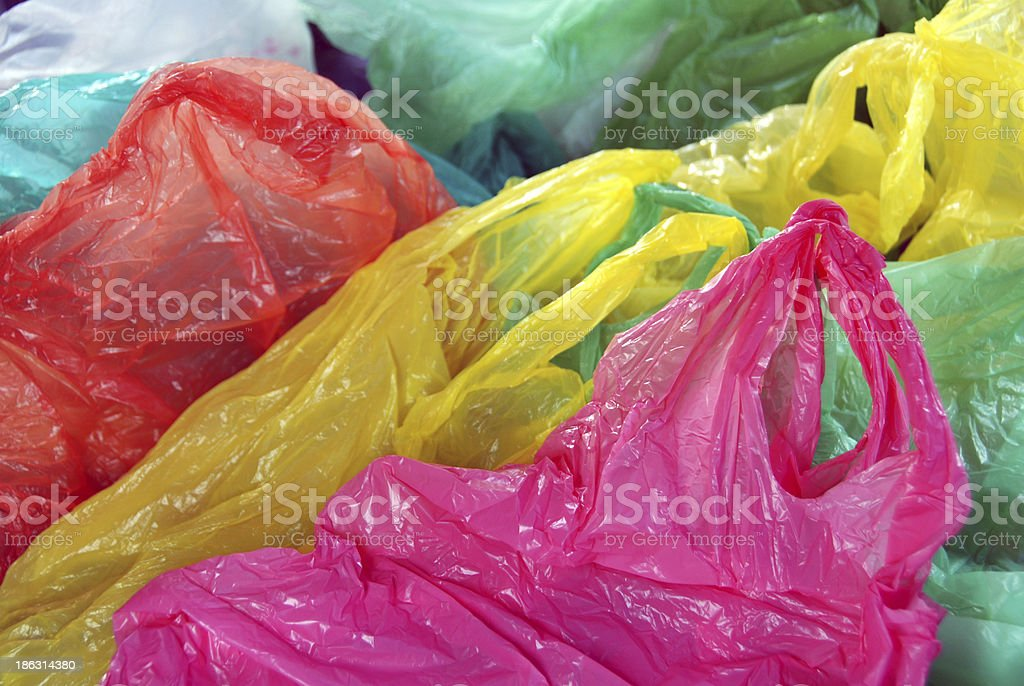Plastic waste separation stock photo